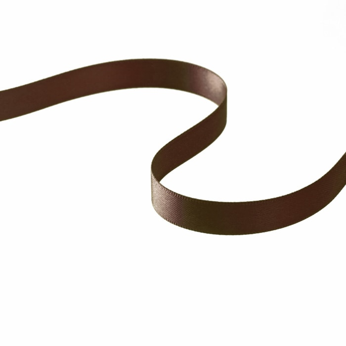 "3/8"" Double-sided Satin Ribbon Brown"