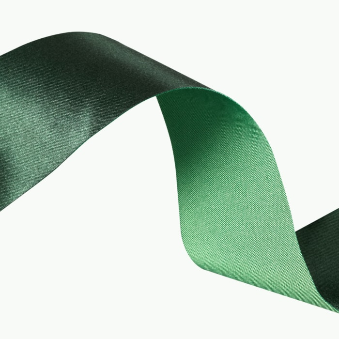 1 1/2'' Iridescent Satin Ribbon Green/Hunter