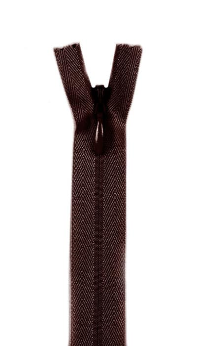 """7/9"""" Poly Invisible Zipper Cloister Brown"""