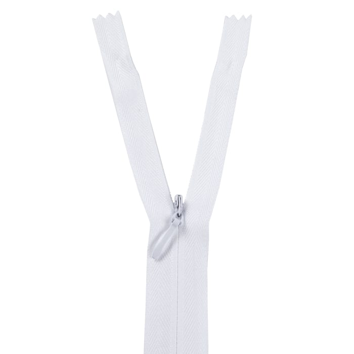 12/14'' Poly Invisible Zipper White