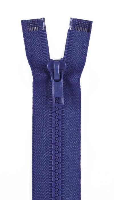"Sport Separating Zipper 14"" French Blue"