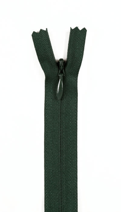"""20/22"""" Poly Invisible Zipper Forest Green"""