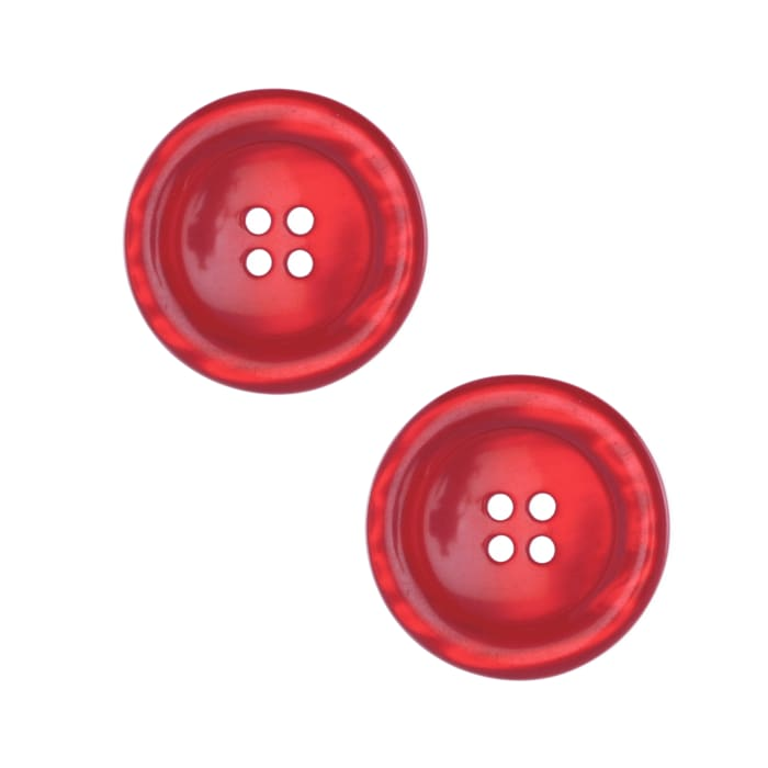 """Riley Blake Sew Together 2"""" Pearl Button Red"""