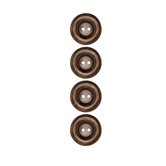 """Riley Blake Sew Together 1"""" Pearl Button Brown"""
