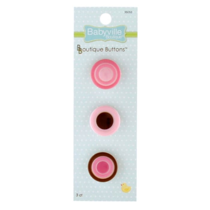 Babyville Boutique Buttons Dots Pink
