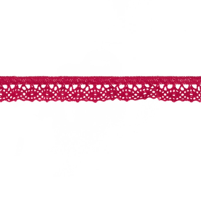 "Riley Blake Sew Together 1/2"" Elastic Crocheted Lace Hot Pink"