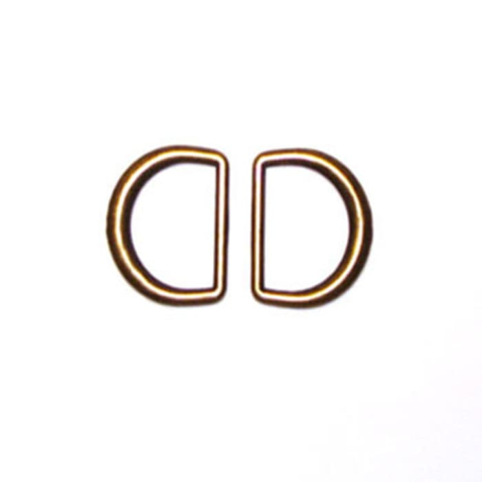 "Antique Gold D-Rings 1-1/4"" 2/Pkg"