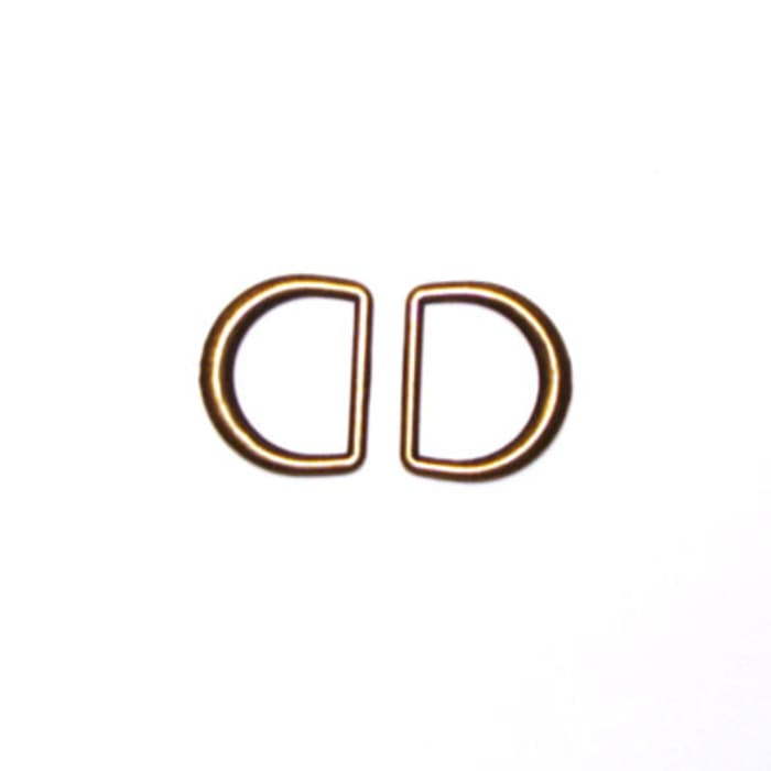 Antique Gold D-Rings 3/4