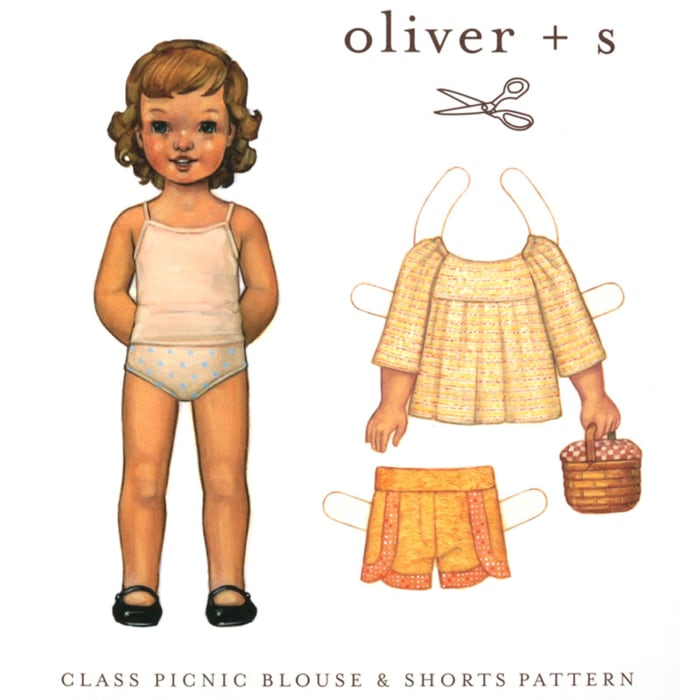 Oliver + S Class Picnic Blouse and Shorts Pattern Size 5-12