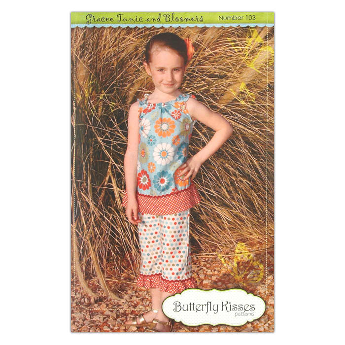 Butterfly Kisses Girls' Grace Tunic & Bloomers Pattern