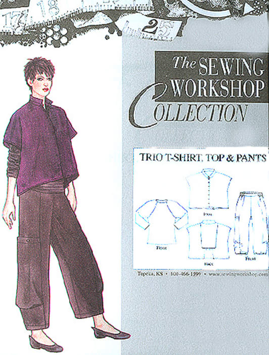The Sewing Workshop Trio T-Shirt, Top & Pant Pattern