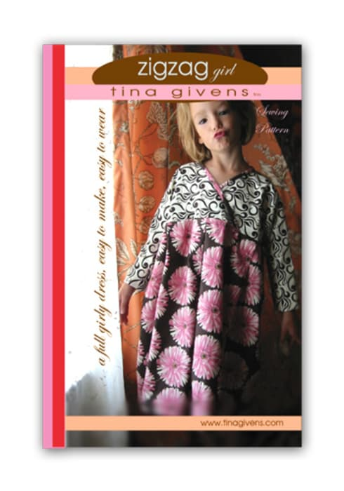 Tina Givens Zig Zag Girl Dress Pattern