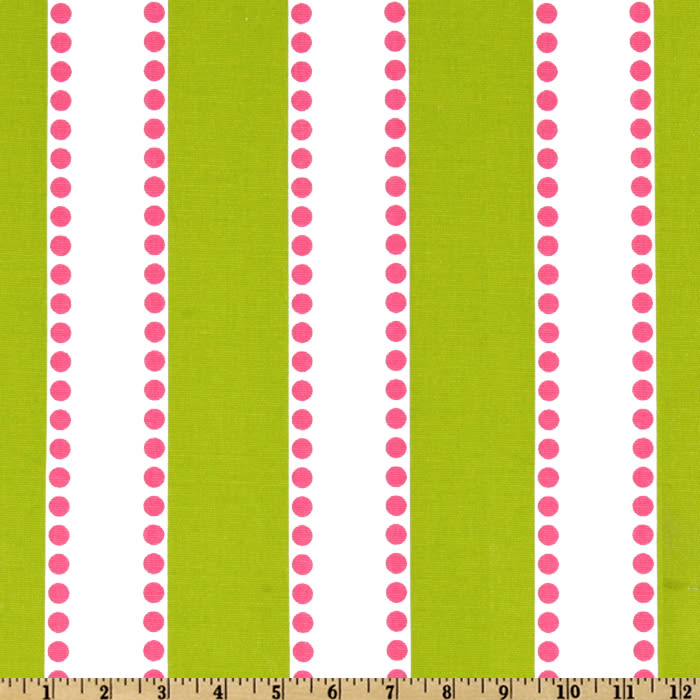 Premier Prints Lulu Stripe Chartreuse/Candy Pink