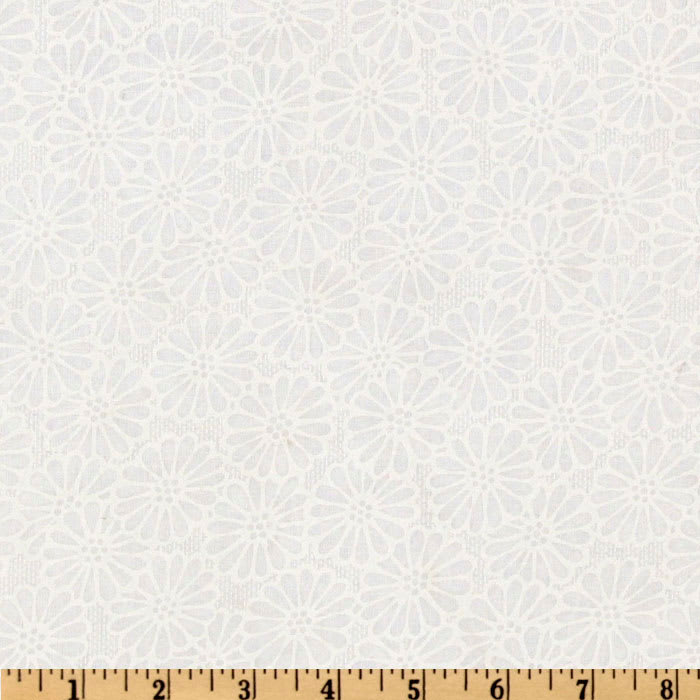 """110"""" Wide Quilt Backing Daisy White"""