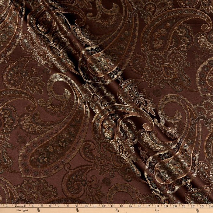 Eroica Candytuft Paisley Jacquard Cocoa