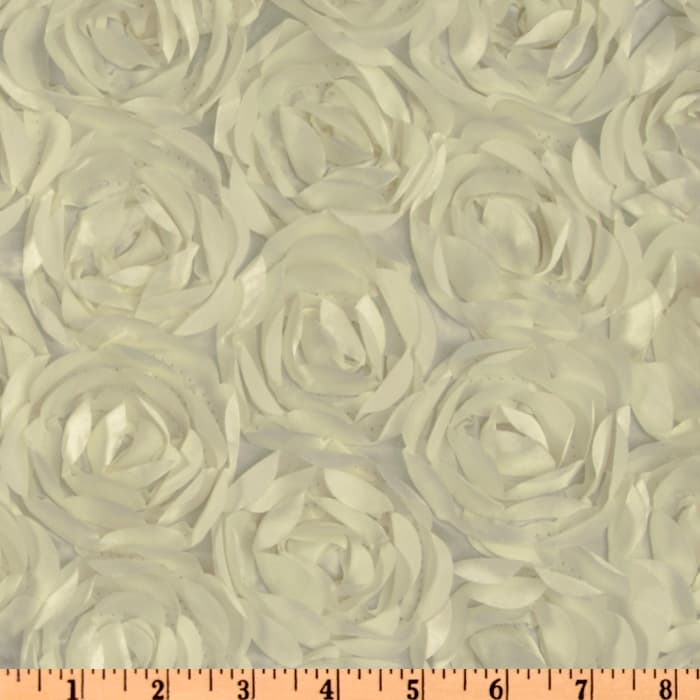 Loveable Satin Ribbon Rosette Ivory