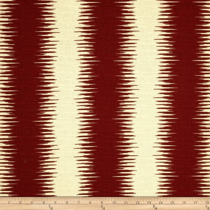 Premier Prints Jiri Stripe Natchez Red/Birch