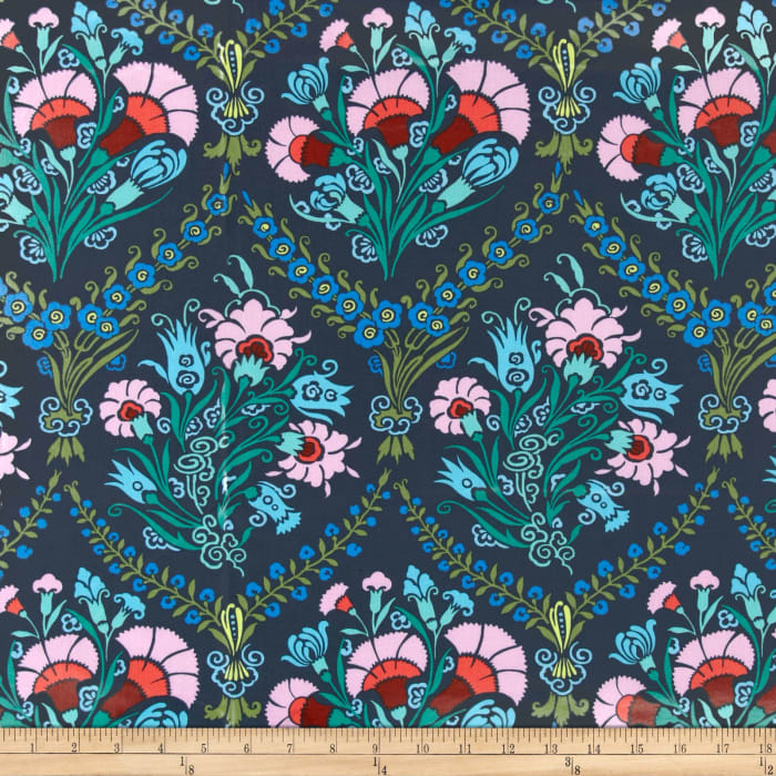 Amy Butler Cameo Laminated Cotton Josephine's Bouquet Ink
