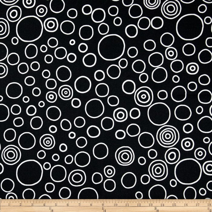 Premier Prints Circles Black/White