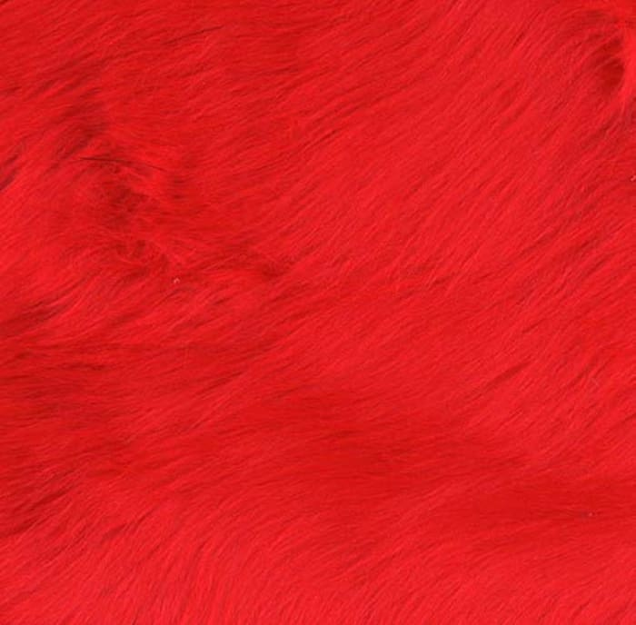 Shannon Faux Fur Luxury Shag Fire Red